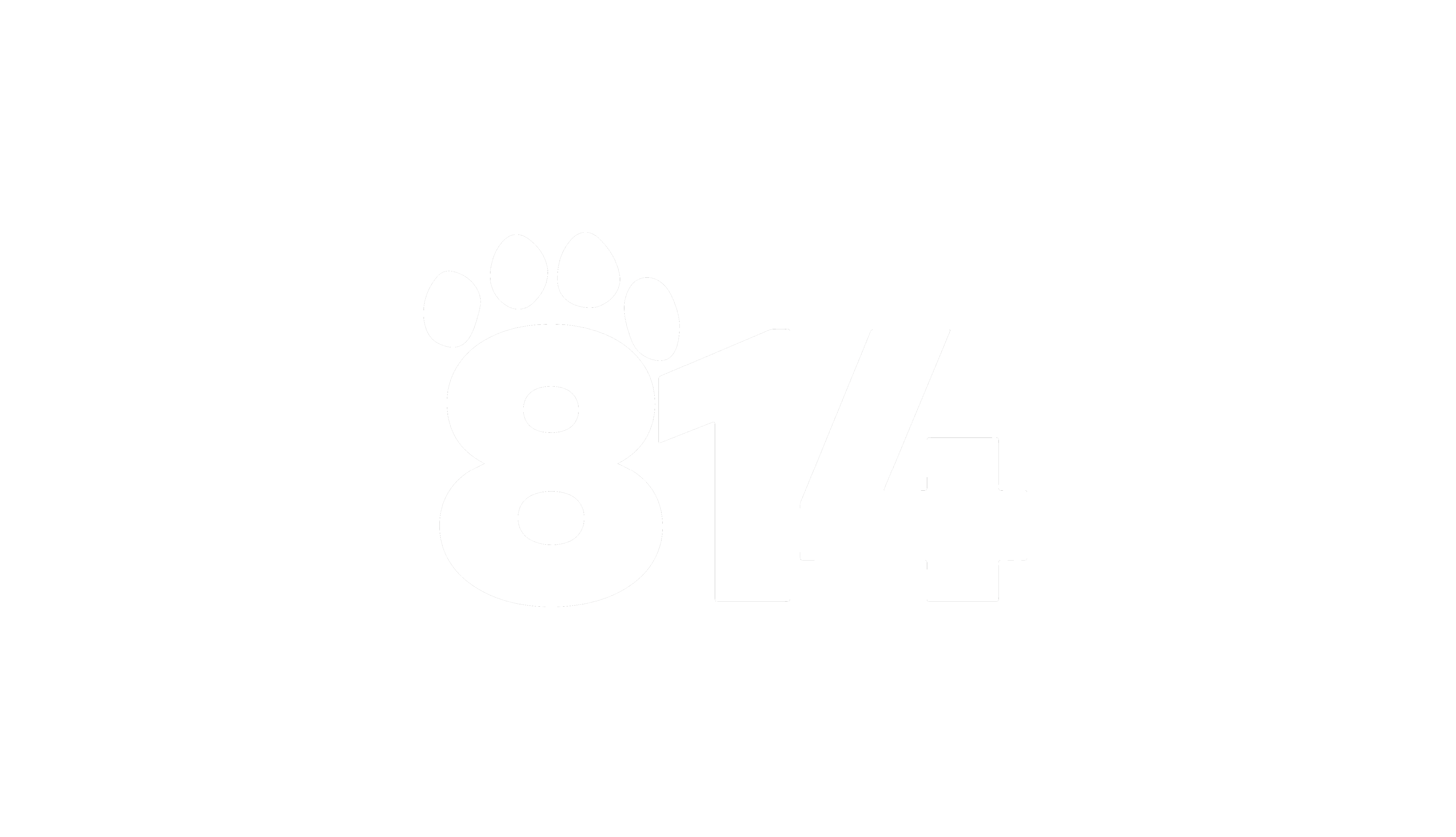 814 Paw Print State Outline